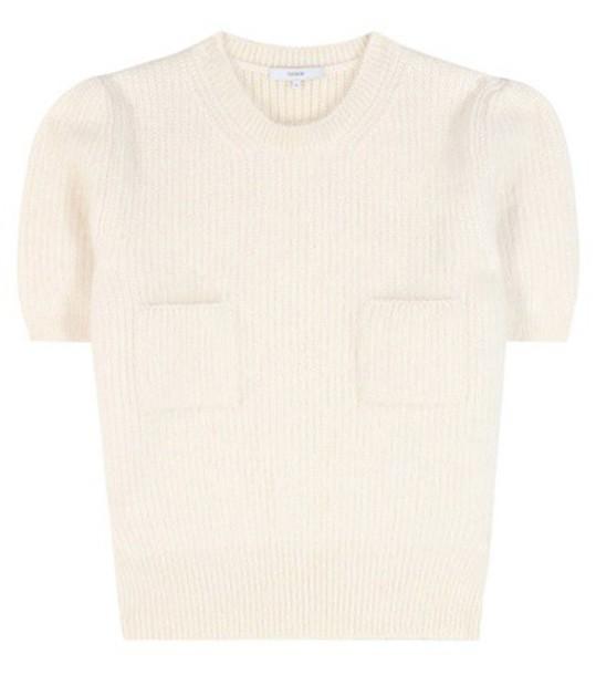 Erdem Jessa Merino Wool-blend Sweater in white