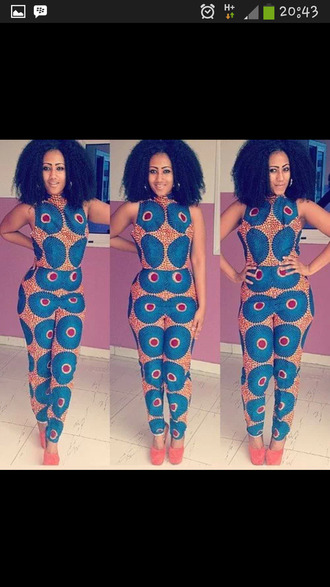 pants african print two-piece