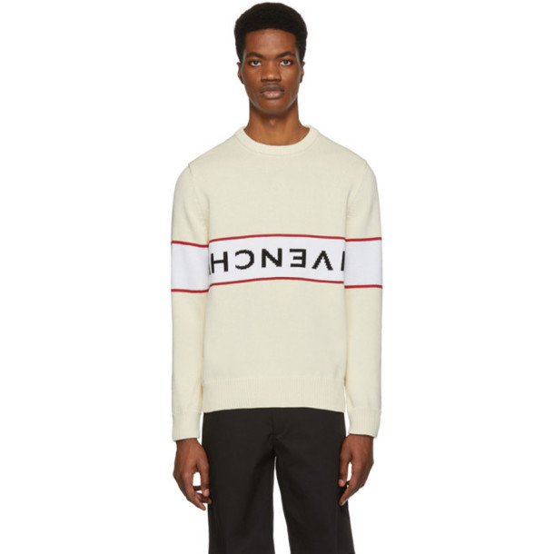 Givenchy Off-White Reverse Logo Sweater