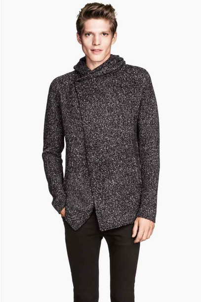 cardigan menswear mens jacket charcoal
