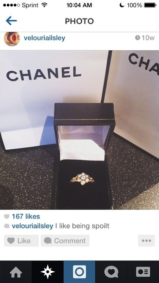 jewels jewelry ring celebrity style celebrity style steal chanel kim kardashian