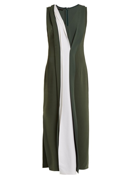 CARL KAPP dress khaki