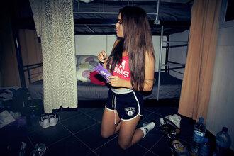 fanny lyckman blogger shorts socks top boxing sportswear sports shorts