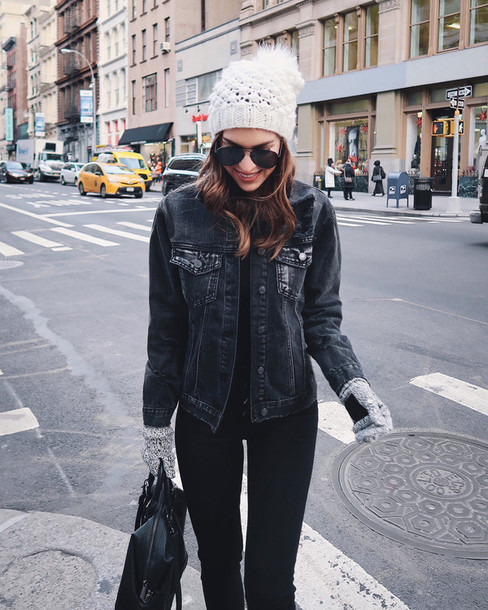Jacket tumblr denim jacket black denim black jacket jeans denim black jeans bag black ...