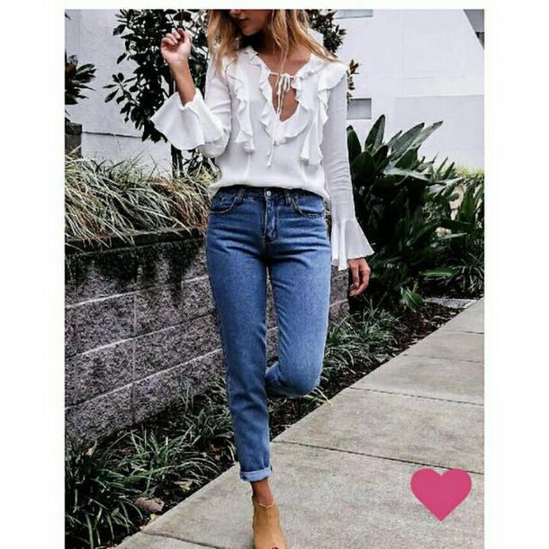 shirt white shirt blouse white top