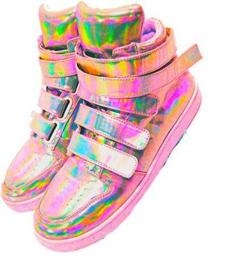 shoes rainbow shiny sneakers cute space grunge tumblr pink hair accessory