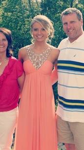 dress,prom,pretty,prom dress,pink,blonde hair