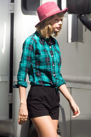 green taylor swift style swag t-shirt flannel shirt
