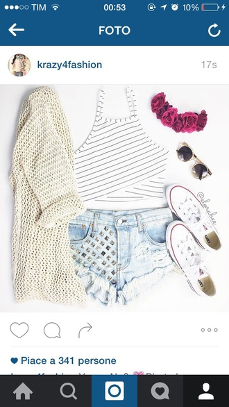 shorts hair accessory top