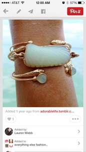 jewels,sea jewelry,turquoise,gold,bracelets,mermaid,ocean,snake,sea creatures,stacked bracelets,snake bracelet,jewelry