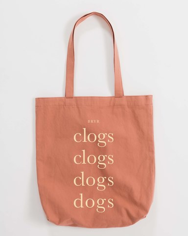 Clogs & Dogs Tote - Terracotta