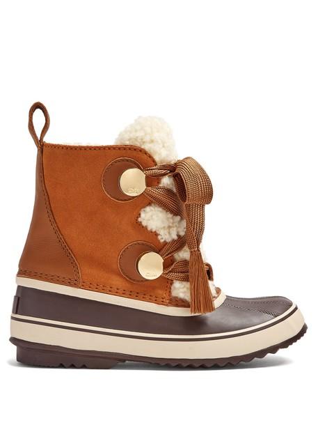 Chloe suede brown shoes