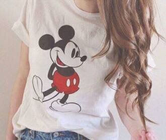 mickey mouse mickey mouse shirt disney disneyland red lime sunday shirt
