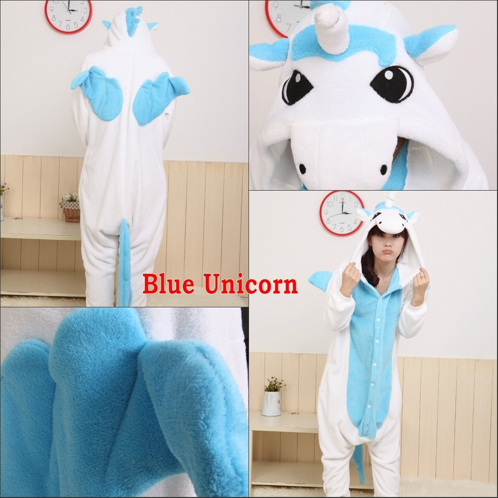 New Adult Animal Kigurumi Pajamas Costume Cosplay onesie Blue ... c87a8cadef7fe