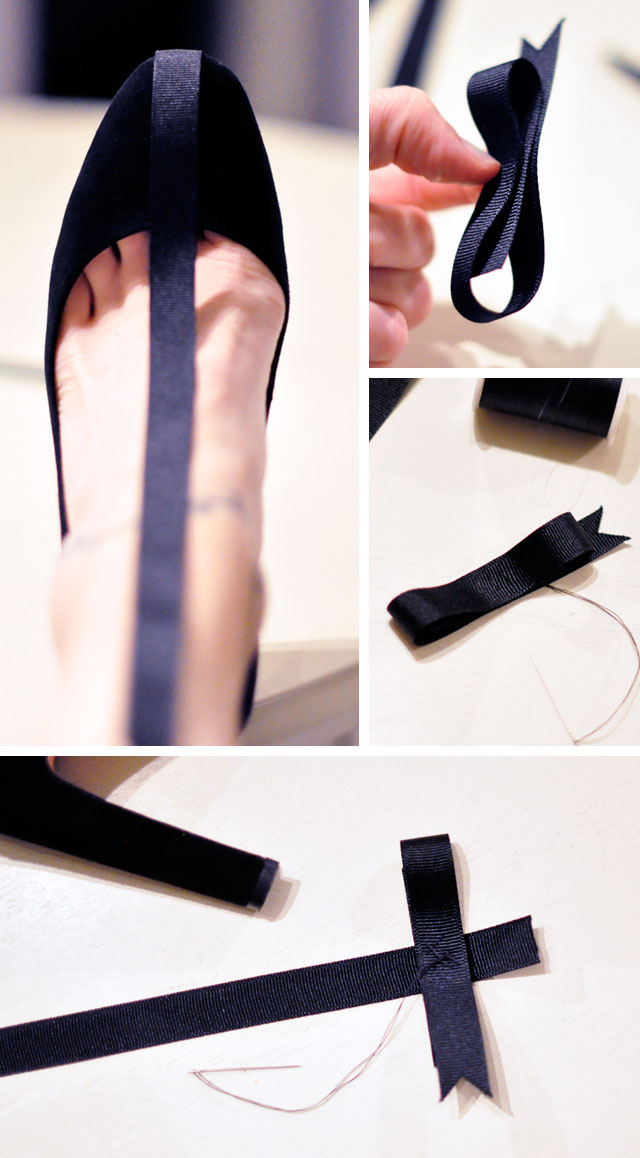 DIY Holiday Shoes // Pretty T-Straps with Ankle Bows ...