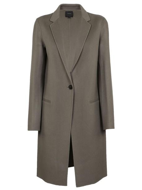 theory coat grey