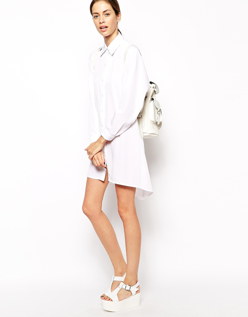 The Laden Showroom X Mirror Mirror Open Cowl Back Shirt Dress at asos.com