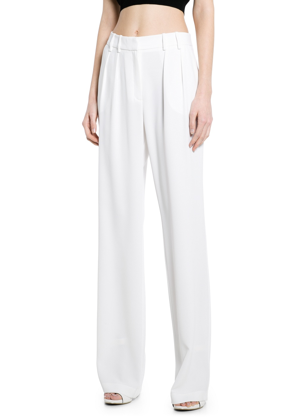 MANGO - CLOTHING - Skirts - Pleated crepe trousers