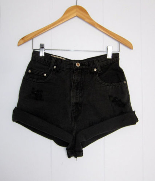 shorts black high waisted short black shorts high waisted black shorts high waisted denim shorts