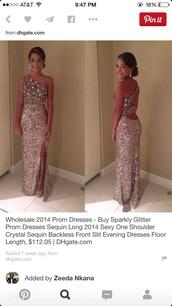 dress,silver,beaded,open back,long prom dress,open leg