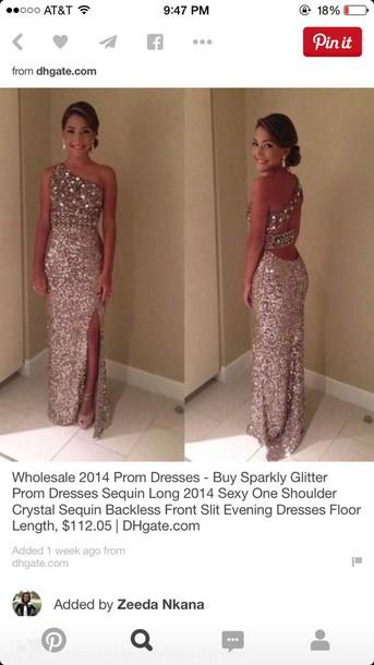 Dress Silver Beaded Open Back Long Prom Dress Open Leg Wheretoget