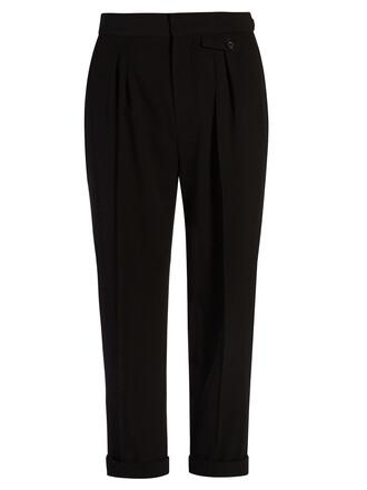 cropped high black pants