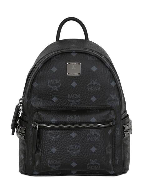MCM mini backpack leather backpack leather black bag