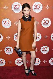dress,pumps,collared dress,anna kendrick,fall dress,shoes