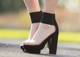 shoes high heels heels transparent clear shoes black black heels