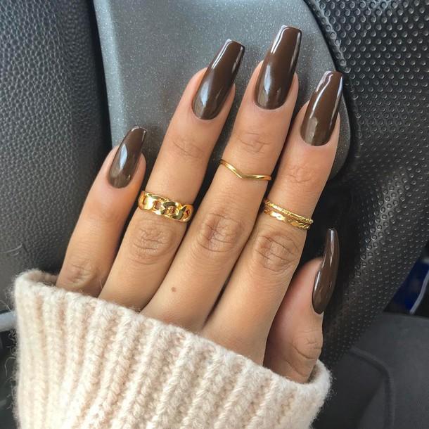 nail accessories, tumblr, nail polish, nail art, nails, dark nail ...