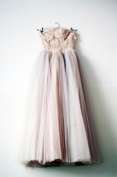 dress prom prom dress pale pale pink wedding clothes pastel roses romantic brides maid fluffy flawless chiffon pale grunge