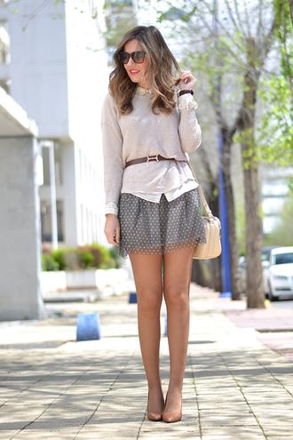 mi aventura con la moda blogger mini skirt chiffon skirt jumper