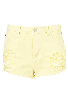 Moto pastel high waist hotpants