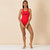 MDV Racer Front Swimsuit - Red