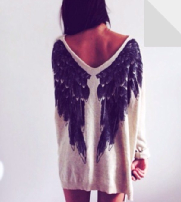sweater angel wings