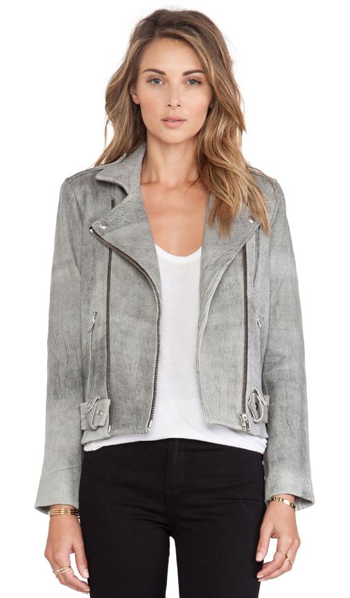 Iro jova leather jacket in grey from revolveclothing.com