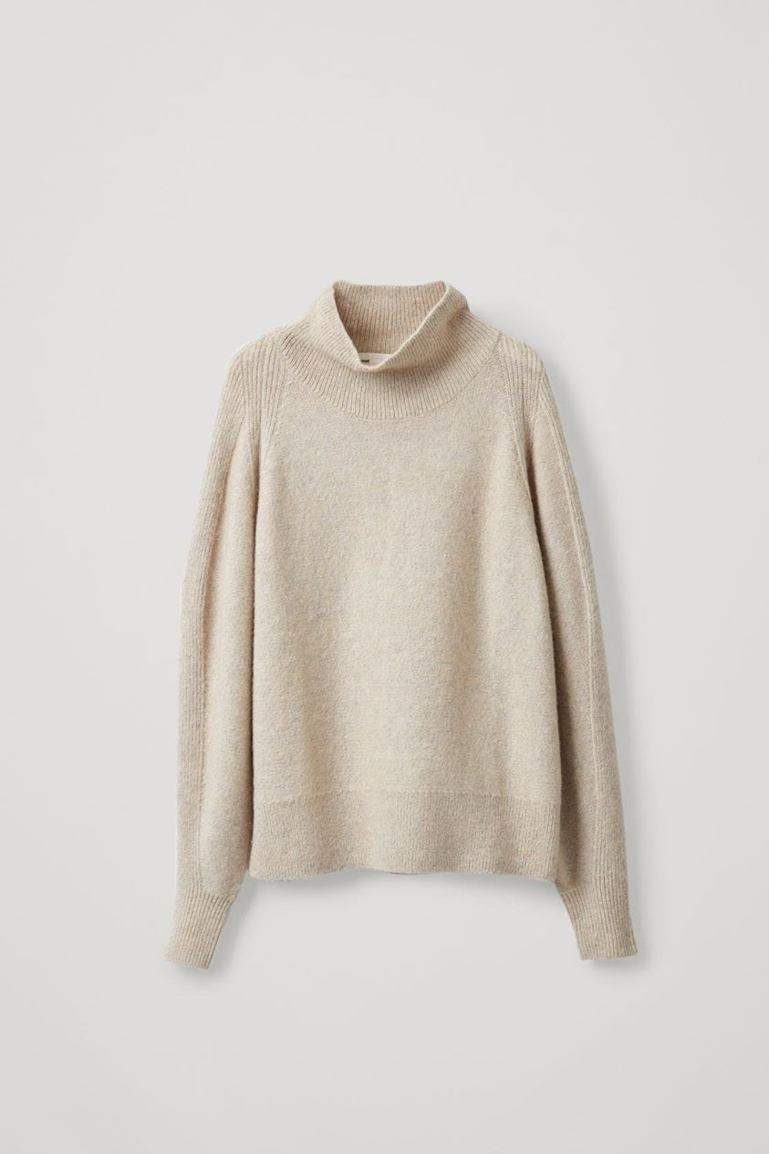 RELAXED TEXTURED WOOL JUMPER