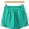 Lace embellished belt green shorts