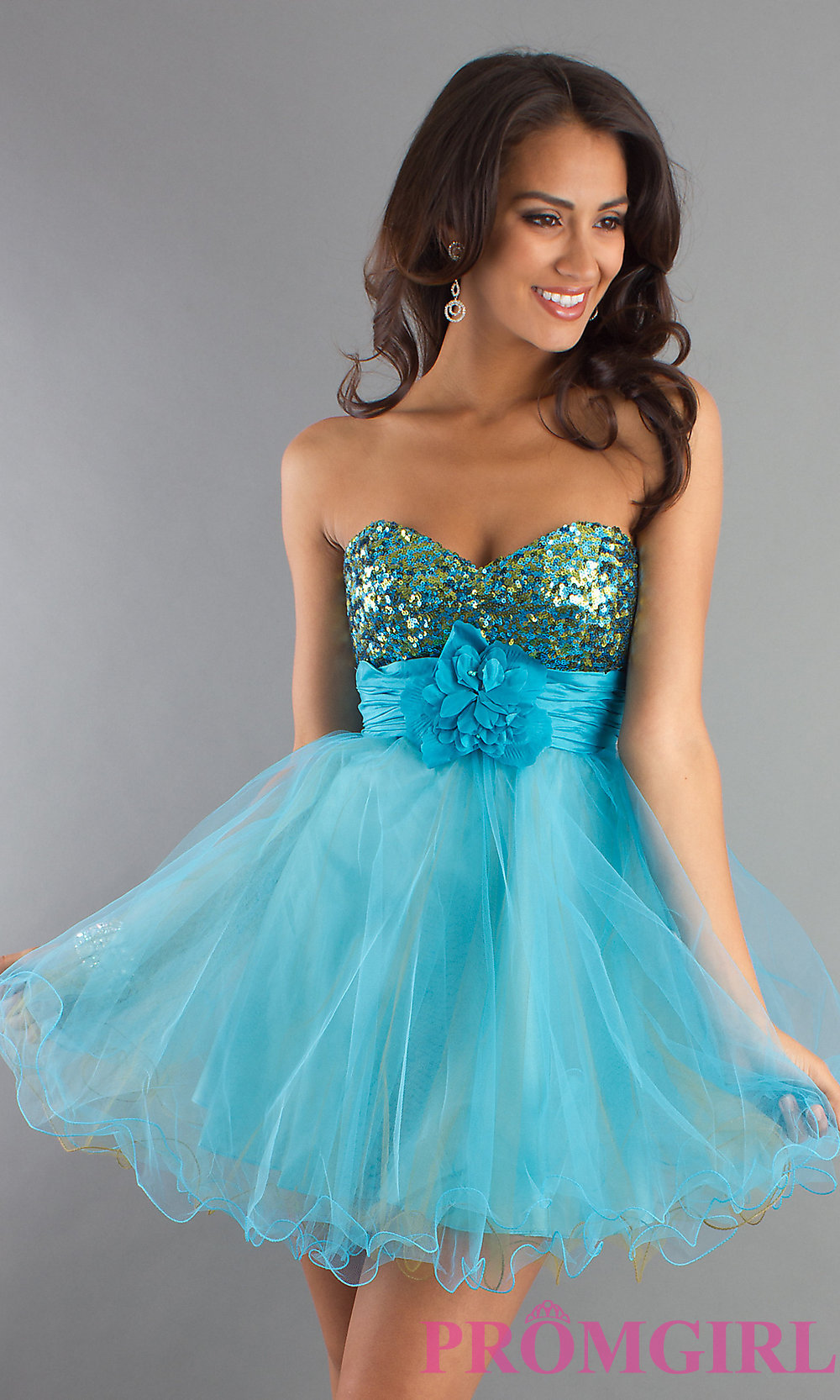 Strapless Baby Doll Party Dress