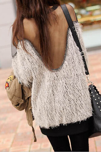 top sweater knitted sweater knitwear see through transparent top