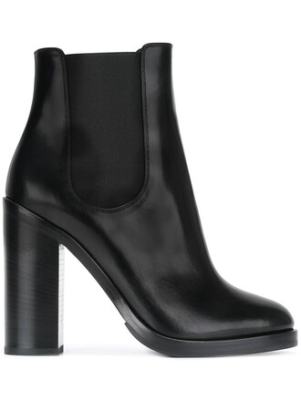 women spandex boots chelsea boots leather black shoes