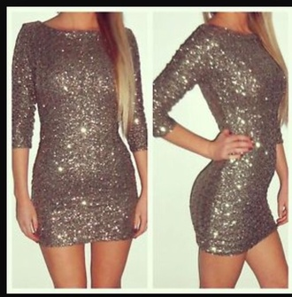 dress gold bodycon short partywear afterparty sparkley glitz gold sequins