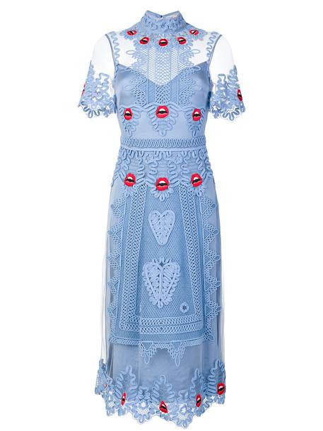 dress midi dress women midi spandex blue silk