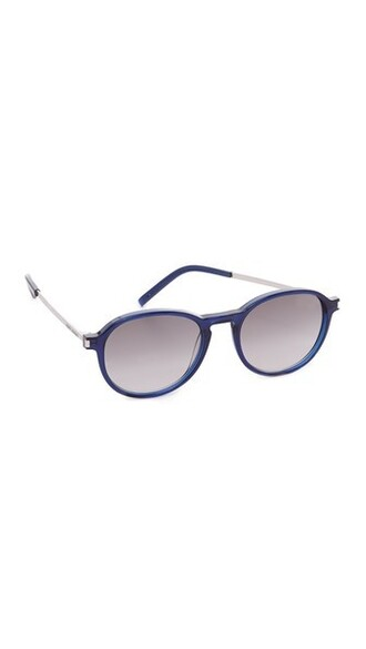 transparent sunglasses blue grey