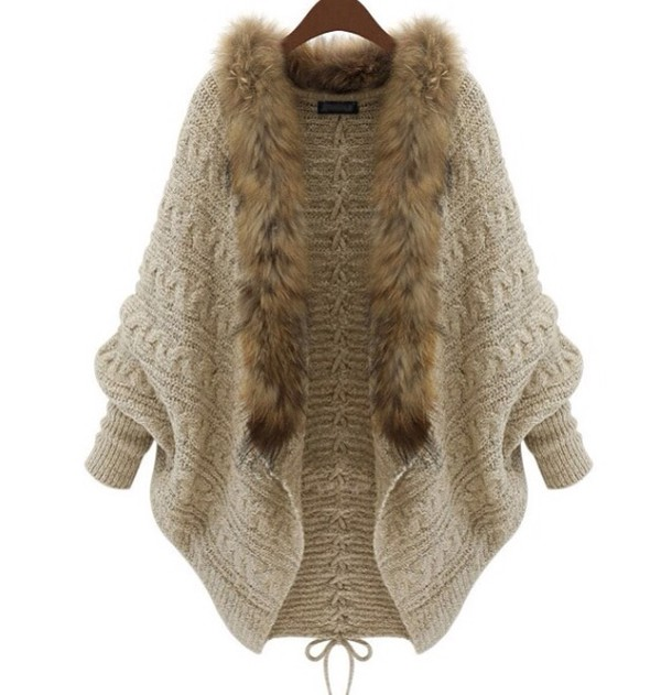 cardigan fur coat fur cardigan 2014 sweater