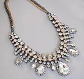 jewels,statement necklace,crystal neckalce