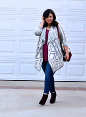 jay miranda,blogger,bag,cardigan,jeans,top,aztec,curvy,plus size,plus size top