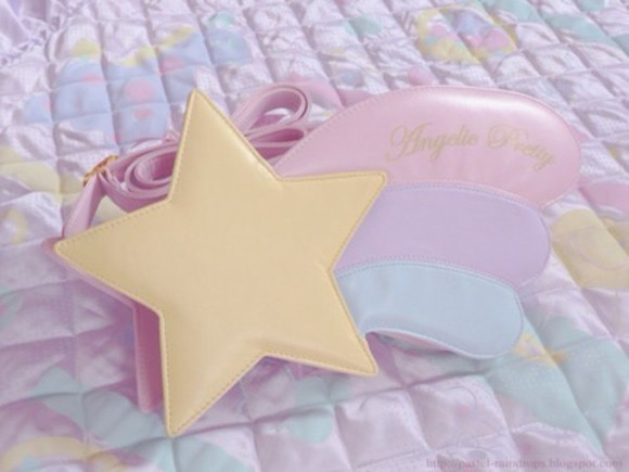 girly star bag kawaii kawaii pastel shooting star pastel purse