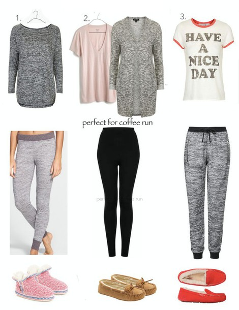 lilly's style blogger cardigan grey sweatpants grey white t-shirt slippers shoes