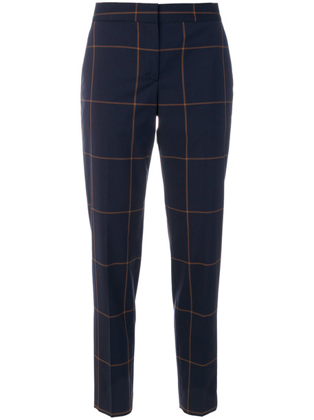 women fit blue wool pants